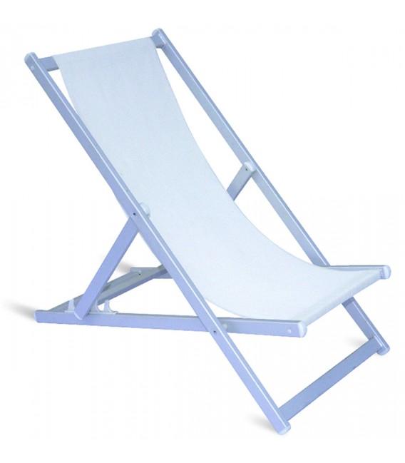 "Folding ""Regista"" chair ivory in aluminum"