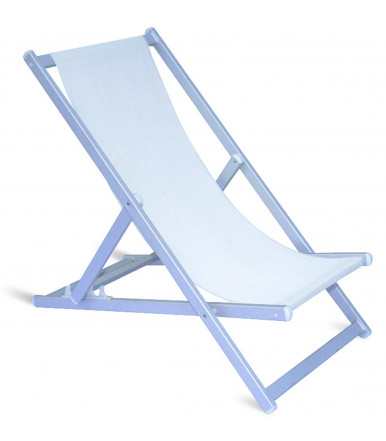 "Folding ""Regista"" chair ivory in aluminum"