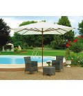 Square garden umbrella 3x3 mt with wooden central pole
