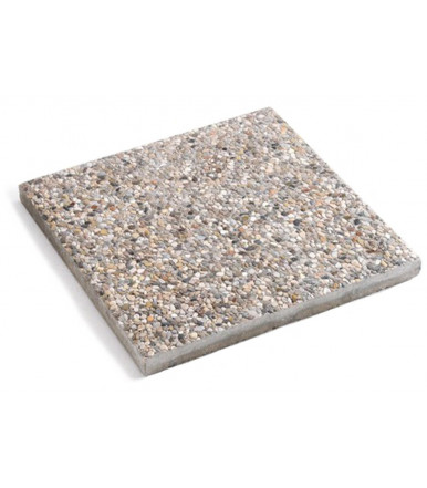 Square base in gravel and cement 50x50 cm 20 Kg for garden umbrella