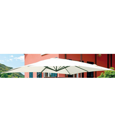 Rectangular garden umbrella 3x4 mt with lateral pole