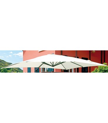 Rectangular garden umbrella 3x4 mt with lateral pole