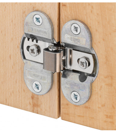 Concealed Mortice Hinge, opening angle 180° for folding door 343.91.600