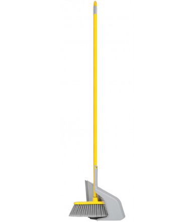 Set Agile Broom + Dustpan Broom Holding Up