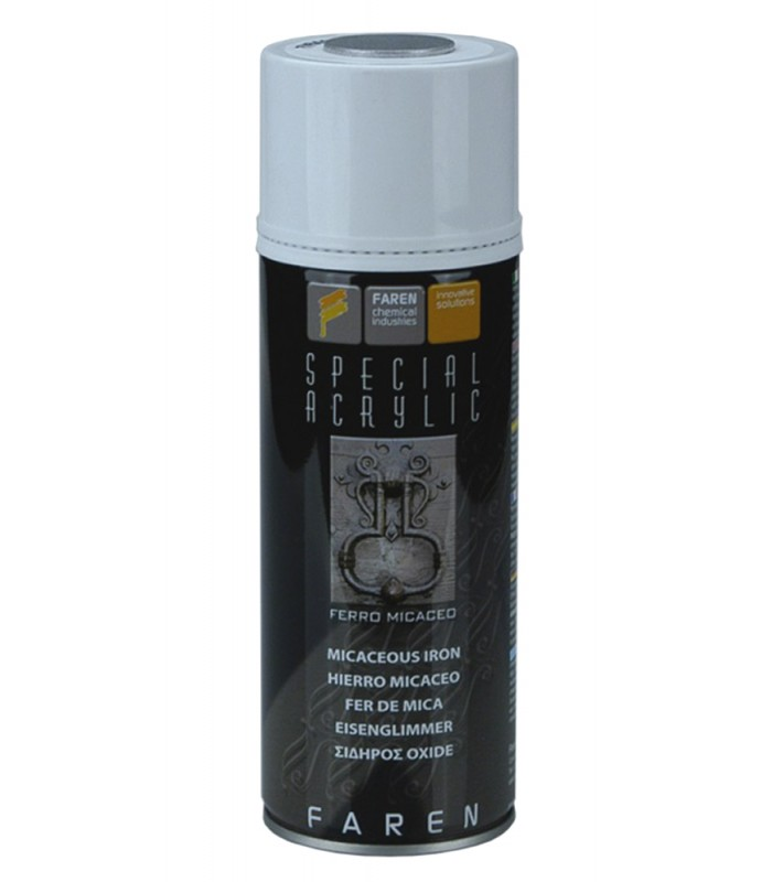 Acrylic Enamel Paint >> Faren Art Femi7v Micaceous Iron Acrylic Enamel Spray For Ferrous Surfaces