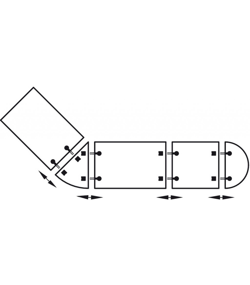 Steel Galvanized Table Connector For Connecting Separate Table Tops
