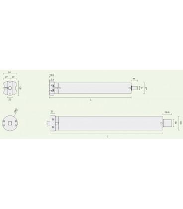 SHOWIN S45 W//REC 50N TUBULAR ACTUATOR ø45 50NM 230V RADIO Blinds