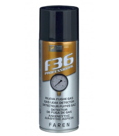 Faren Art.1AE400 F36 spray-foam detects gas leaks
