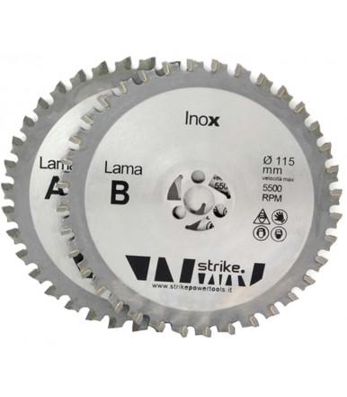 Coppia lame Twin 115 mm per Acciaio Inox
