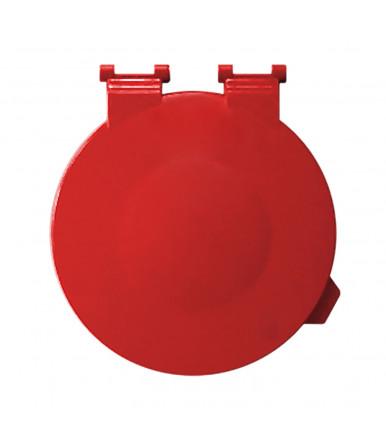 """Tapa para soporte para bolsas de basura """"X"""" pintado de rojo"""