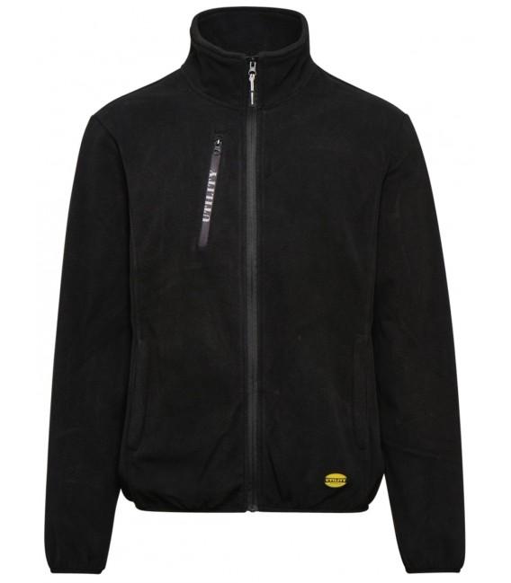 Half-zip brushed fleece work track jacket Diadora Utility Sweat Pile fz