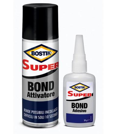 Adesivo istantaneo con speciale attivatore Super Bond Bostik