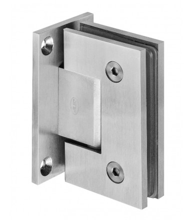 Wall to glass hinge in Stainless steel with stop, thickness 8-10 mm art.IN.05.307 JNF