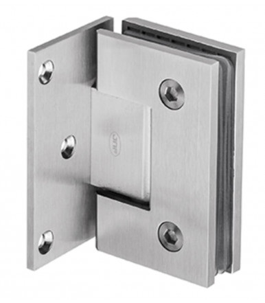 Wall to glass side hinge in Stainless steel with stop, thickness 8-10 mm art.IN.05.306 JNF
