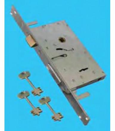 Cerutti mortise door lock double bit keys 4 throws 3038.E70