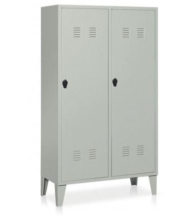Garderobenschrank 2 Abteile geteilt E337