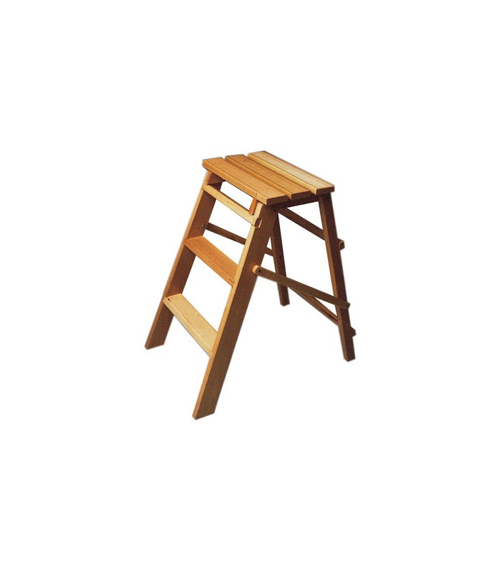 Step Ladder Stool In Natural Beech Wood