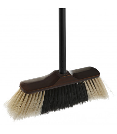 Set Agile Broom + Dustpan Broom Holding Up