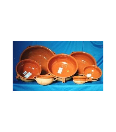 Terracotta casserole with 2 handles