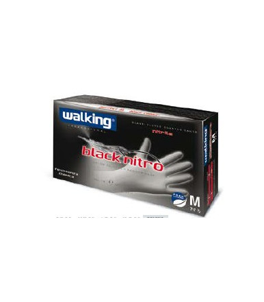 Nitrile gloves powder free Walking Black nitro 100 pieces