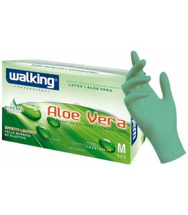 100 Pcs Aloe Vera Walking Latex gloves no dust
