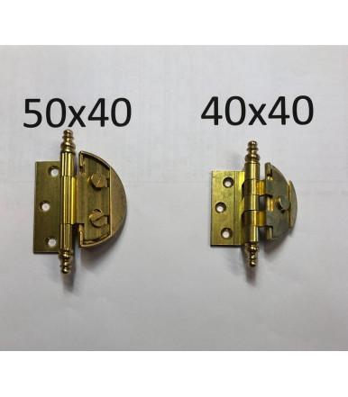 """art. 13 B/1 Adjustable hinges """"Baroque style"""" with round case"""