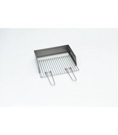 Kit paratia e griglia per cuocispiedino a carbone Torino Grill da 80/100 x 40 ferro