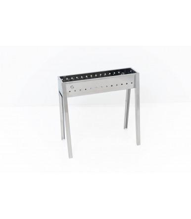 Canalina Cuocispiedini ed Arrosticini a carbone Milano in acciaio Inox da 50 cm