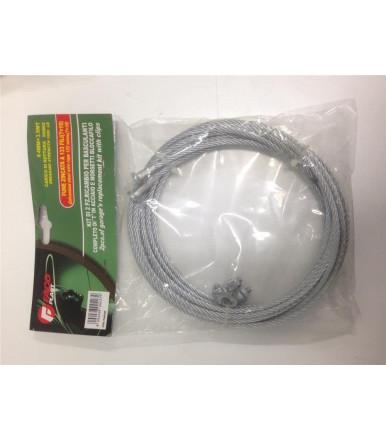 Facoplast 6 mt Winch galvanized steel wire rope