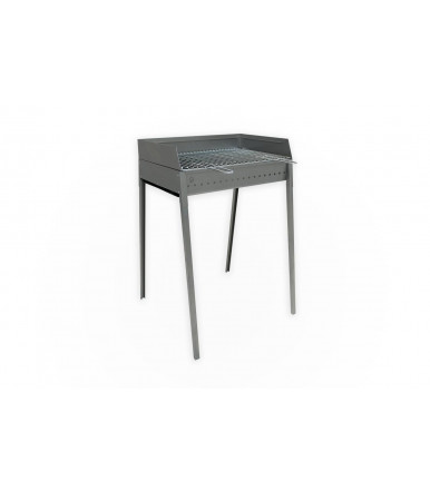 Barbecue Inox removable feet with shelves and grill 60 cm x 40 cm