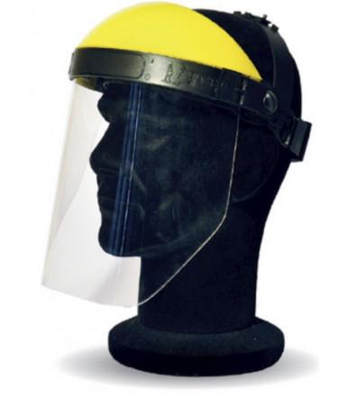 Visiera protettiva facciale con schermo in policarbonato e regolazione a pomello