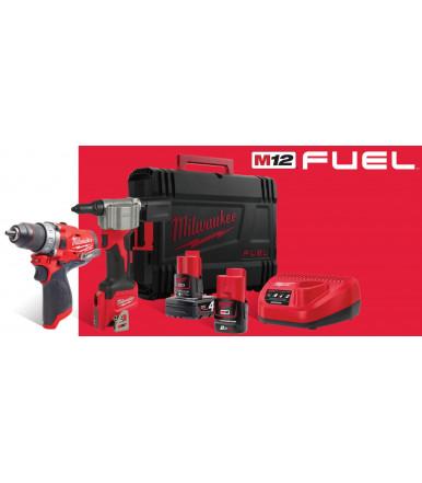 12V percussion drill kit + Milwaukee M12BPP2A-203C impact screwdriver