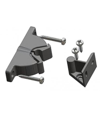 atp Door-stop clip PIRANHA with floor and wall junction without mounting screws and plugs
