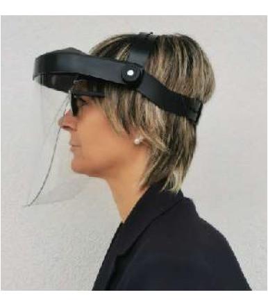 Gesichtsschutz mit Polycarbonat-Bildschirm und Knopfverstellung