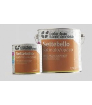 Colorificio Sammarinese multi-purpose satin synthetic enamel Settebello Satinato/Opaco