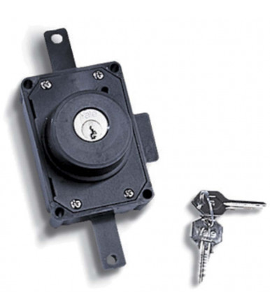 Lock with double locking system-Triangle/padlock 9 mm