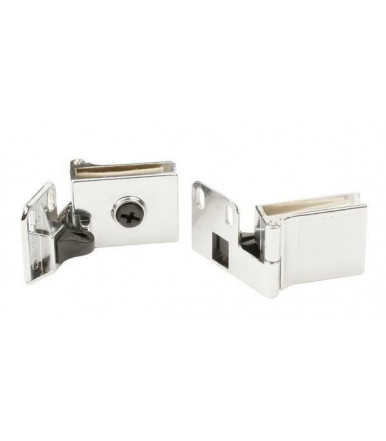Chromed hinge for glass doors