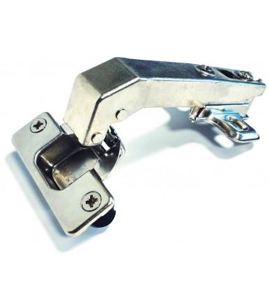 "Ferrari Slide-on hinge 35 mm, opening 95° with base for wooden door, ""long neck"""