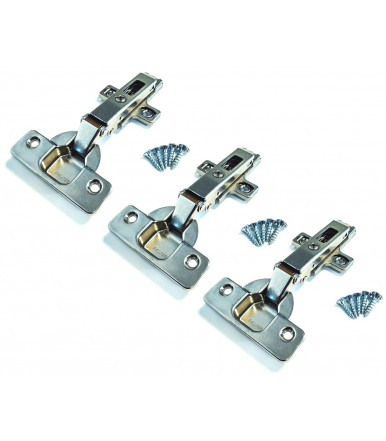 Salice 110 ° hinge for 35 mm flat furniture with base for wooden door