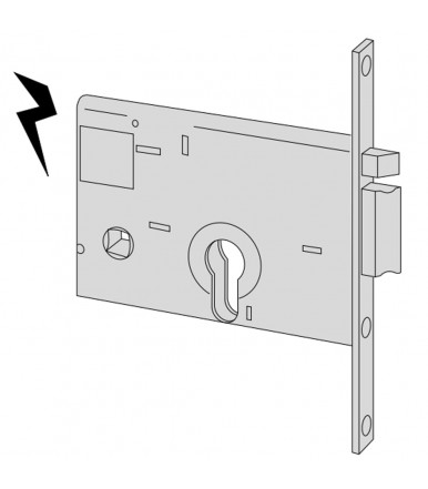 Cisa D5210 door closer with sled arm