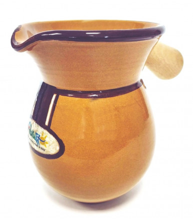 Typical Brings Arrosticini and skewers Majolica Pitcher Arrostibotte small