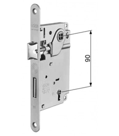 Kit Griff Duetto Ø 48 mm Aktiv-Aktiv für Faltbare Tür 38-48 mm