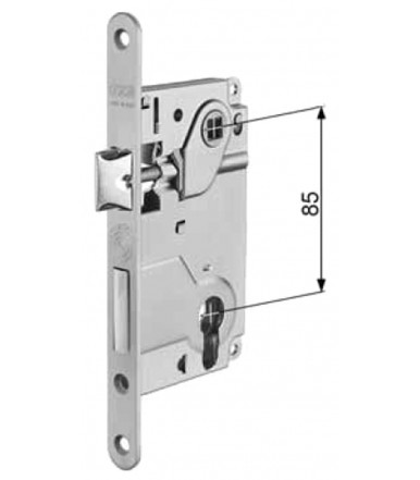 Kit Duetto catches with handles Ø 48 mm Active-Active for folding doors thickness 38-48 mm