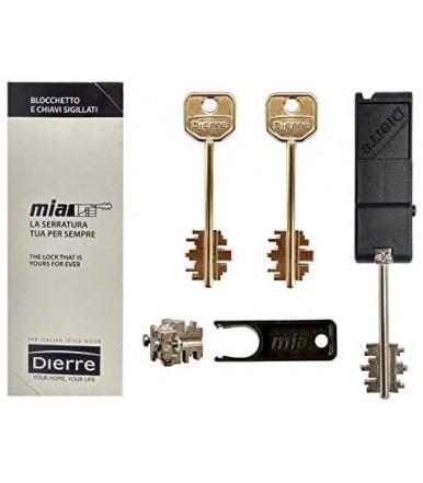 Kit blocchetto Atra con 3 chiavi sistema Mia per DIERRE art.BLO3130