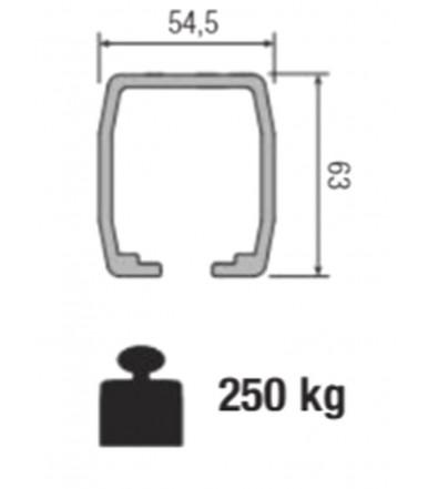 Binario in alluminio anodizzato Koblenz 0850/2 Mt 3