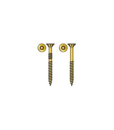 Vite TPS Tecfi con impronta a 6 lobi per truciolare in acciaio, Zincata gialla