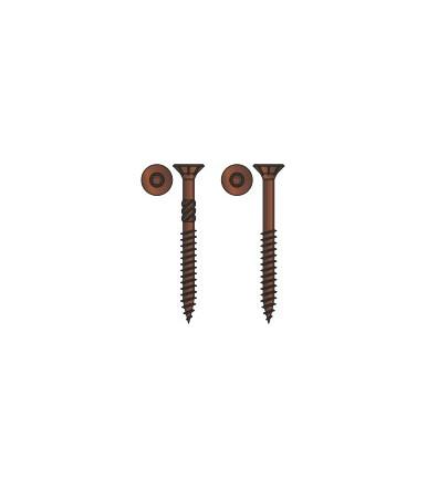 Vite TPS Tecfi con impronta a 6 lobi per truciolare in acciaio, bronzata