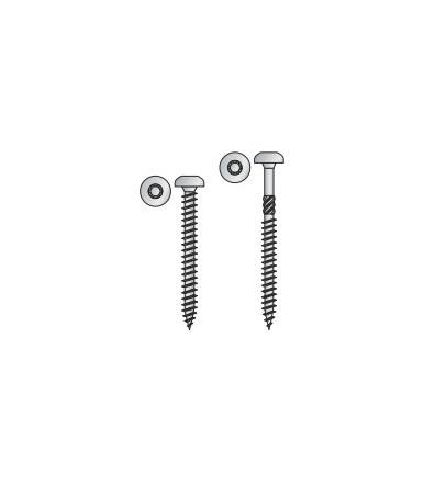 Vite Testa Cilindrica Tecfi con impronta a 6 lobi per Truciolare in acciaio cementato, Zincata Bianca