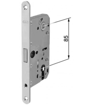 AGB magnetic lock for Polaris 2XT door with cylinder hole