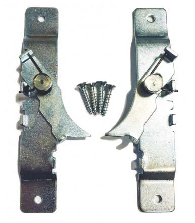 Pair of steel shutter stops with screws - roller shutter block 392